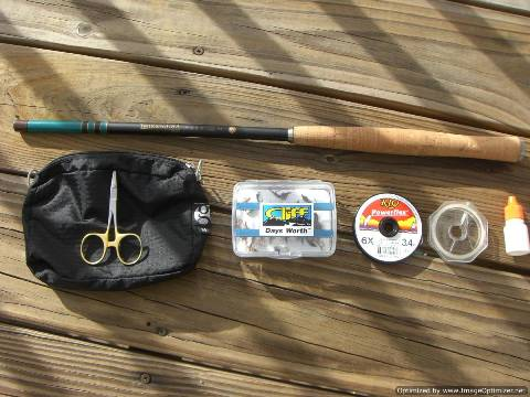 Backpack Flyfishing Kit 1