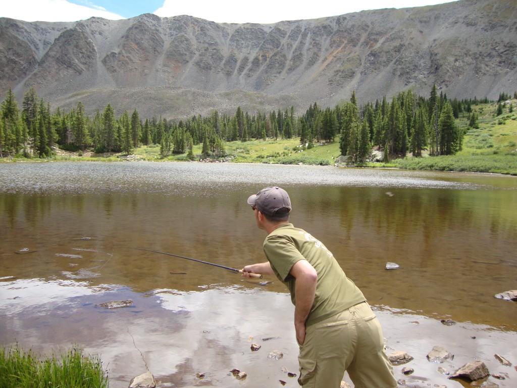 Fishing lakes with tenkara rods