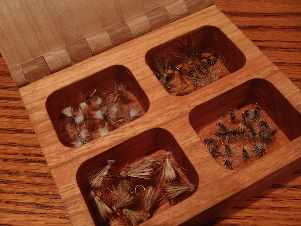 Tenkara Fly Box with Flies