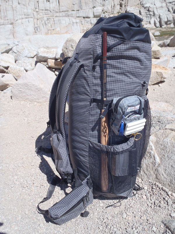 Tenkara Rod in Backpack