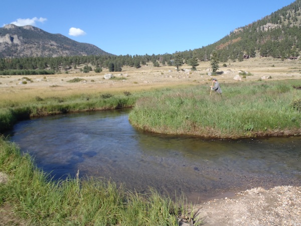 Tenkara Bum Working the Big Thompson
