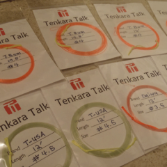 Organizing Tenkara Level Lines
