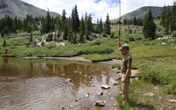 Tenkara Lake Fishing