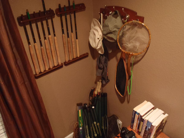 Tenkara rod rack display