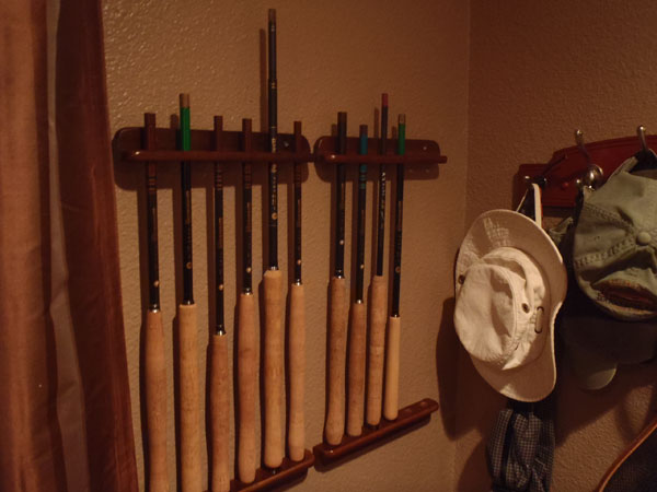 Tenkara Rod Rack