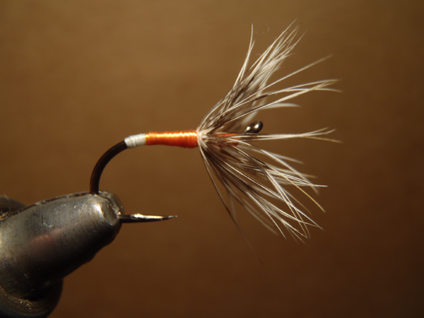 Sakasa Kebari on Allen Fly Fishing Octopus Hook