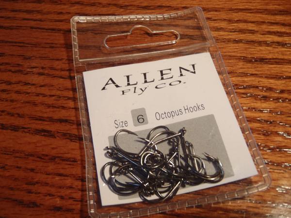 Allen Fly Fishing Octopus Hooks 25 pack