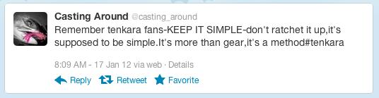 Tenkara Tweet
