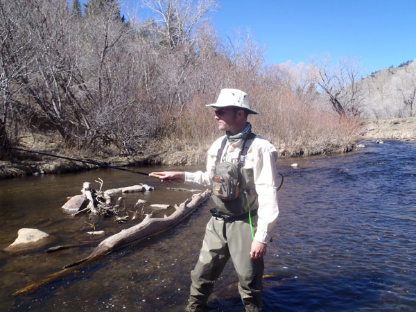 Me on Bear Creek with my trusty Tilley hat
