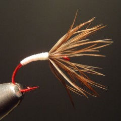 Tenkara Flies on Red Hooks