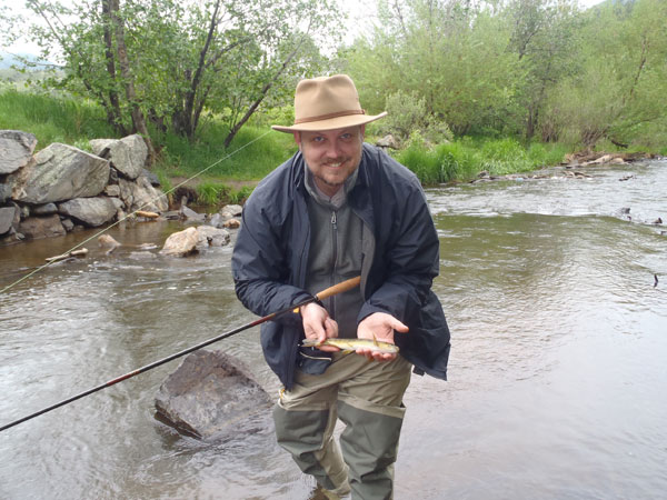 First fish on tenkara