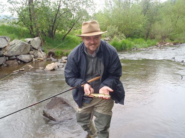 First fish on tenkara