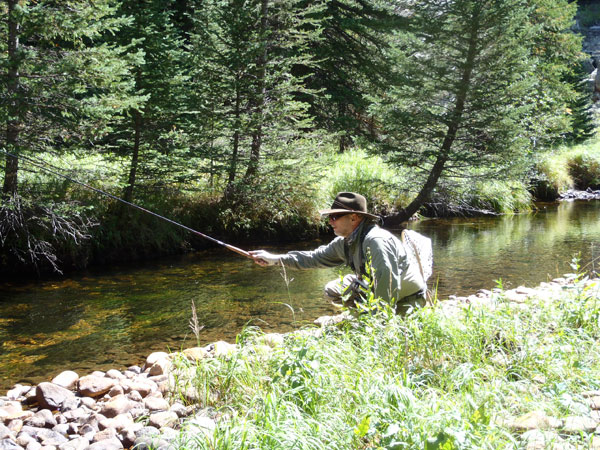 Joe Egry Fishing Tenkara