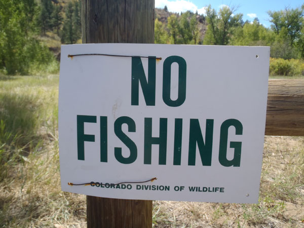 Fishing Ban on Bear Creek