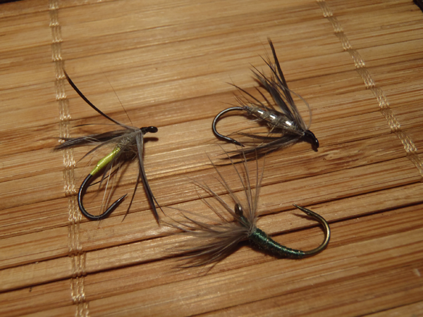 Tenkara flies tied with found materials