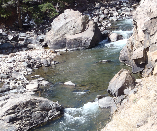 A typical pool on Clear Creek