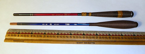 Tanago rods used for microfishing