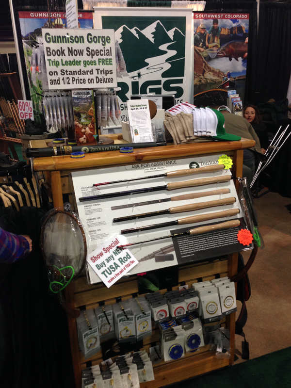 Rigs tenkara display at the Fly Fishing Show 2013