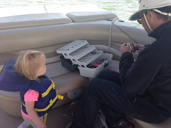 "When I opened my tackle box, my 2-year old daughter said, ""oooh, daddy's toys!"""