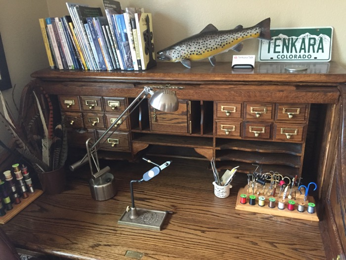 A Tour Of My New Fly Tying Desk Tenkara Talk