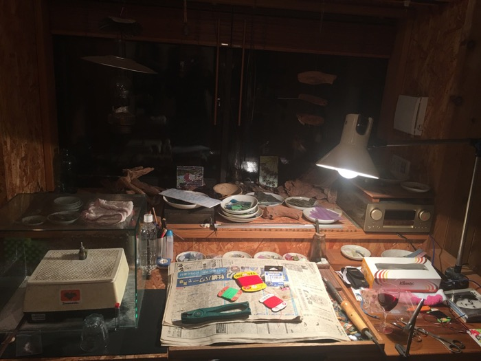 Toshiaki Kado's Fly Tying Desk