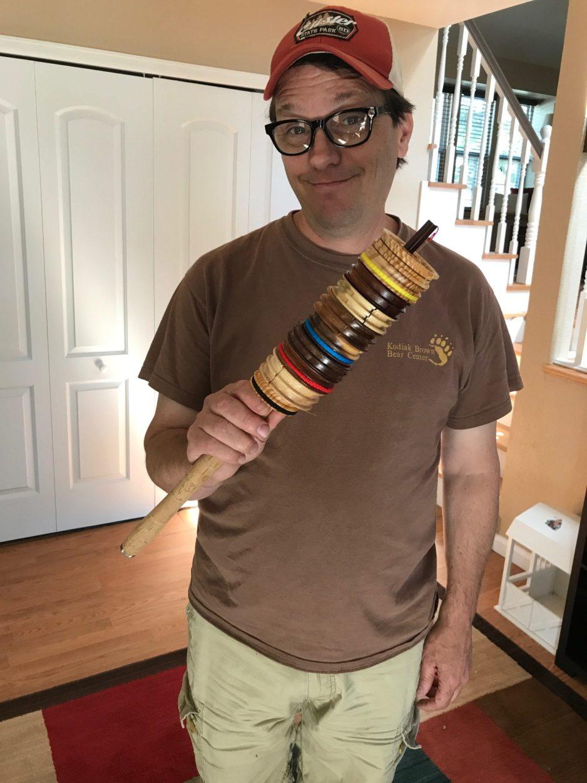 Wooden tenkara line spools