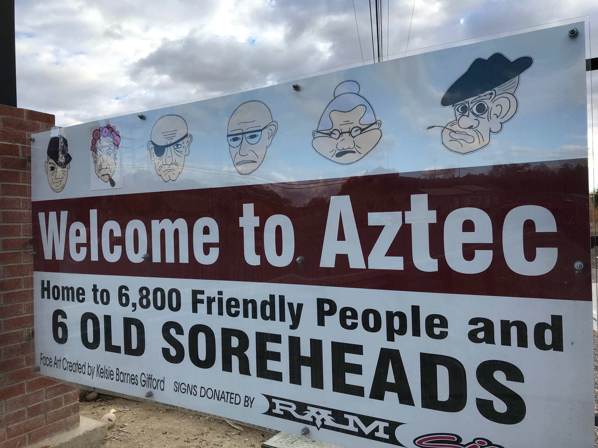 Aztec, New Mexico Welcome Sign