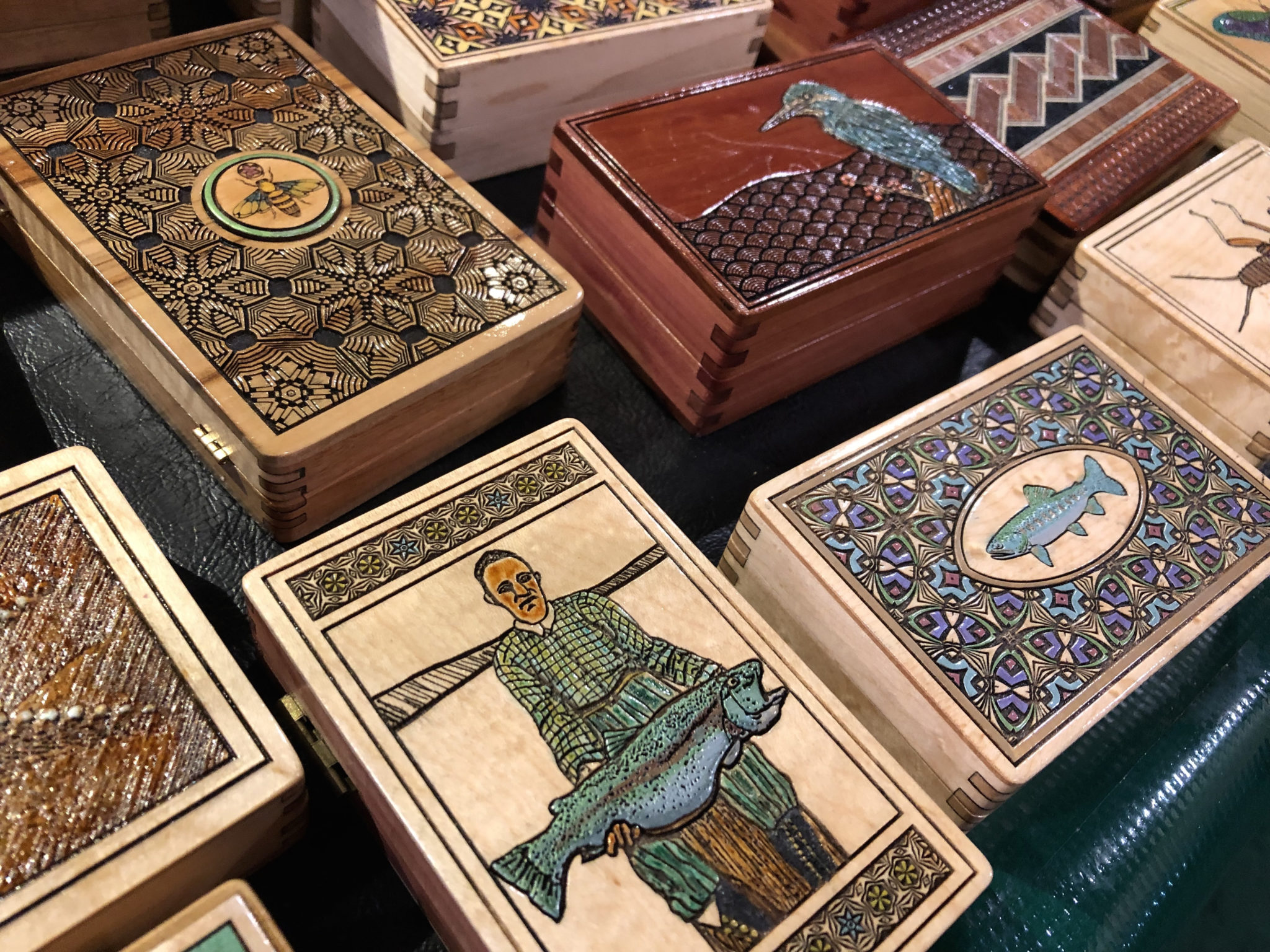 Wooden Tenkara Boxes at the Fly Fishing Show