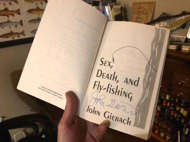 Autographed John Gierach Book