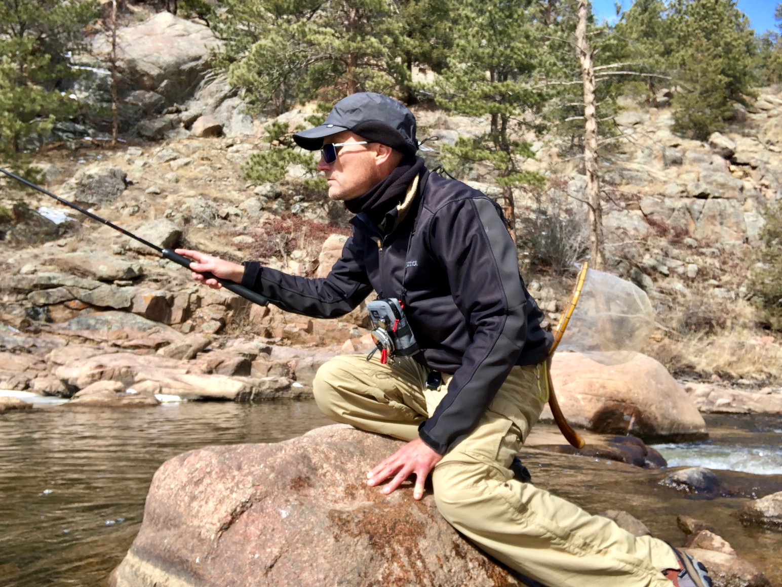 Jason Klass Tenkara Fishing on the St. Vrain