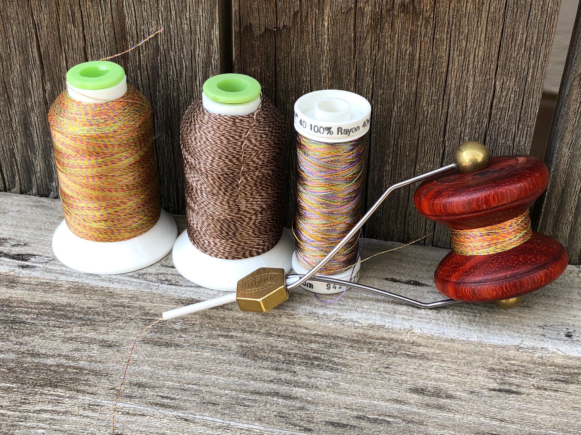 Wooden Fly Tying Bobbin Spool