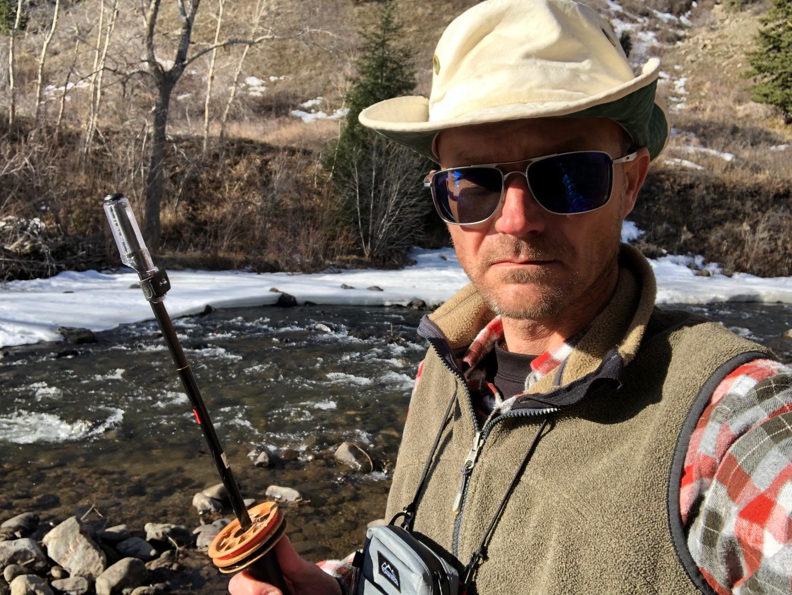 Jason Klass Fishing Tenkara on the St. Vrain